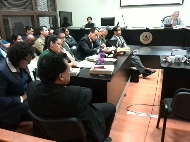 Audiencia de primera declaración de los detenidos por presunta corrupción en la Municipalidad de Antigua Guatemala.(Foto Prensa Libre: Estuardo Paredes)