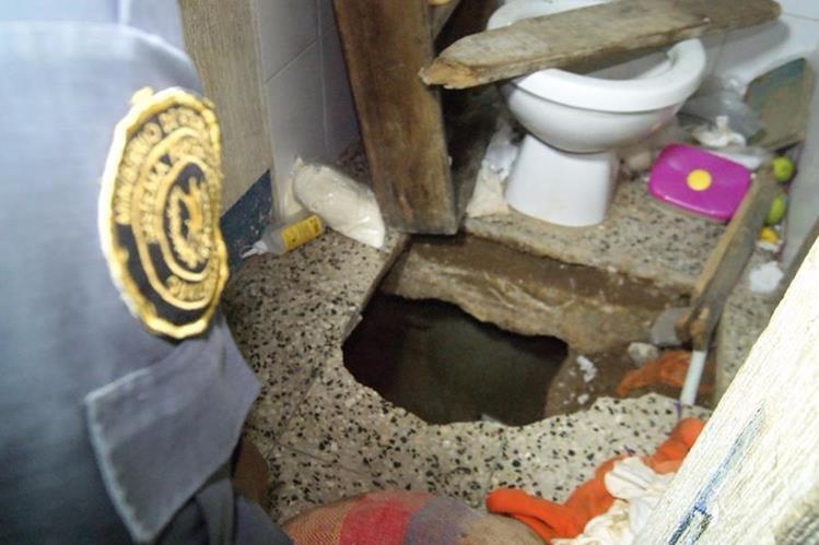 Un túnel fue localizado en una celda de la cárcel Fraijanes (Foto Prensa Libre: Sistema Penitenciario)