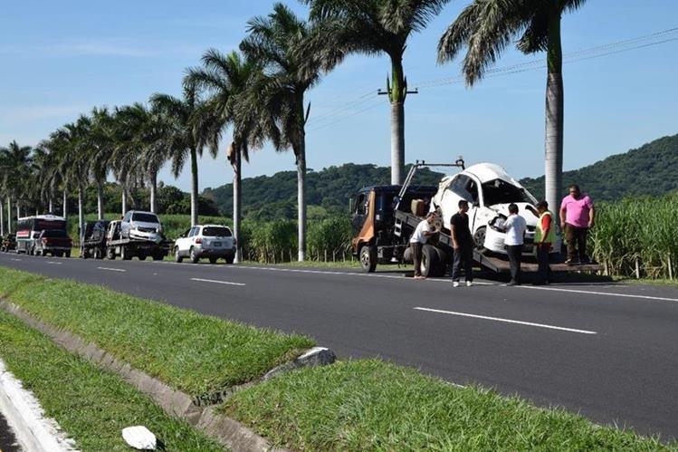 Choque múltiple deja 16 heridos en ruta de Palín a Escuintla