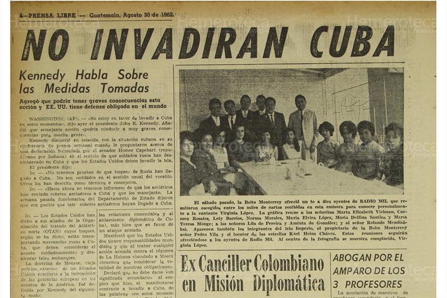 Nota del 30 de agosto de 1962, sobre discurso de Kennedy sobre Cuba. (Foto: Hemeroteca PL)