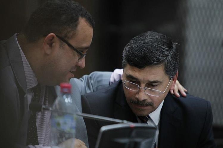 Edgar Barquín, durante la audiencia frente al juez Miguel Ángel Gálvez. (Foto Prensa Libre: Paulo Raquec)