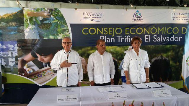 Consejo Económico del Plan Trifinio pretende reacticar la economía en la región fronteriza de El Salvador, Hunduras y Guatemala. (Foto Prensa Libre: Vicepresidencia)