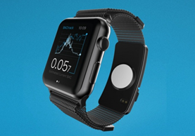 El wearable BACtrack Skyn puede adaptarse a un reloj Apple Watch o utilizarse de manera independiente. (Foto: Hemeroteca PL).