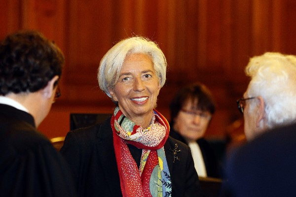 Christine Lagarde,directora del FMI.(AP).