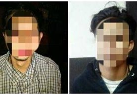 """Juan Daniel López González, alias """"el Jefferson"""", y Luis Alejandro Pérez Diéguez, alias """"el Grillo"""" fueron liberados por un juzgado de Mixco. Fotos Prensa Libre. Mingob."""