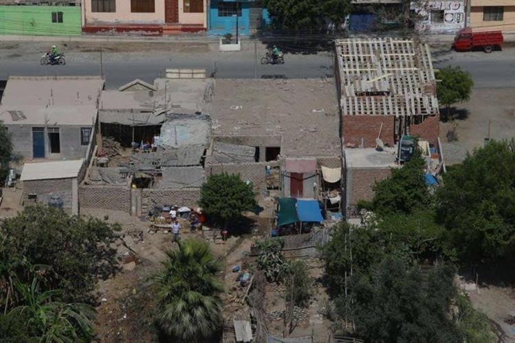 Una vista aérea en la zona afectada por un sismo de 6.8 grados en Arequipa, Perú.(Foto Prensa Libre:EFE).