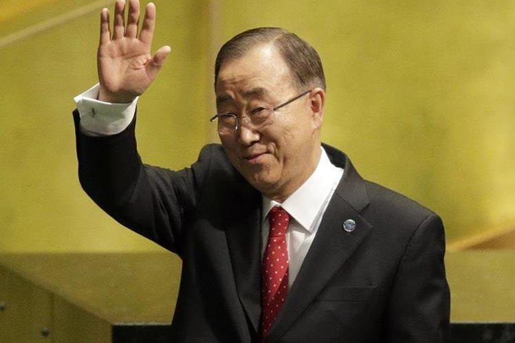 Ban Ki-moon deja el cargo en la ONU luego de 10 años. (Foto Prensa Libre: AP).