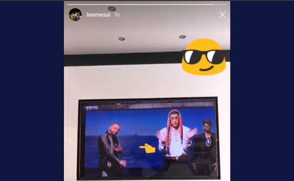 Lionel Messi compartió con sus seguidores que su nombre y el de sus esposa aparece en una canción. (Foto Prensa Libre: Captura de Pantalla Instagram Lionel Messi)