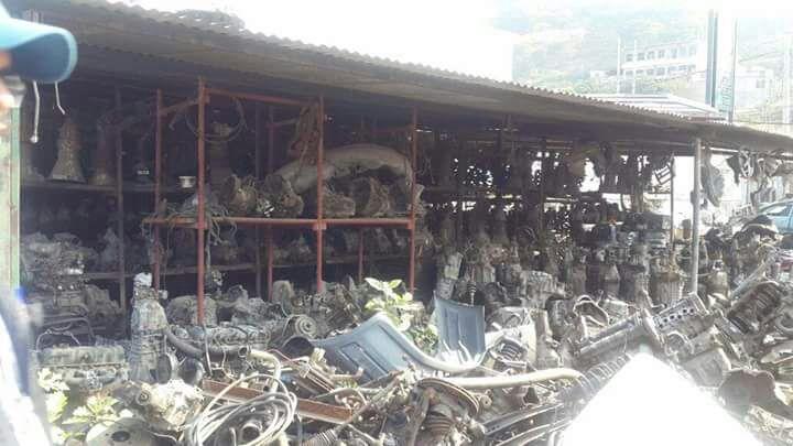 El predio funcionaba como una bodega de piezas de carros robados. Foto Prensa Libre: MP