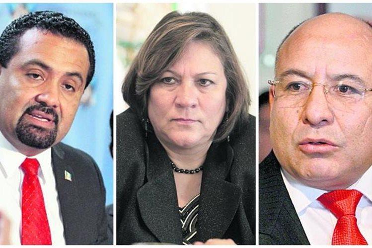 Mario Yanes, Mirza Arreaga y Luis Chávez, ligados a proceso por tráfico de influencias. (Foto Prensa Libre: Hemeroteca PL)