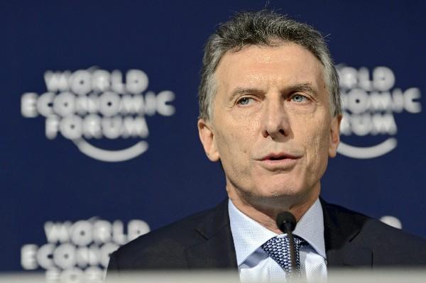 Mauricio Macri, presidente de Argentina, participa en el Foro de Davos en Suiza.