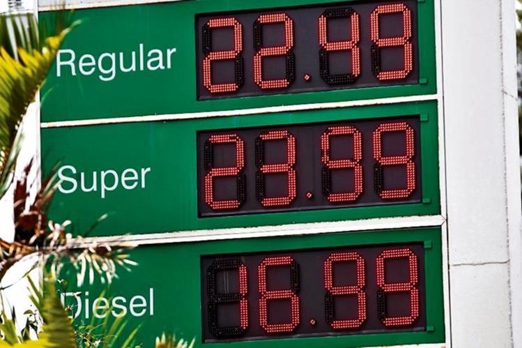 precios en  gasolineras reflejan la tendencia internacional a la baja del petróleo.