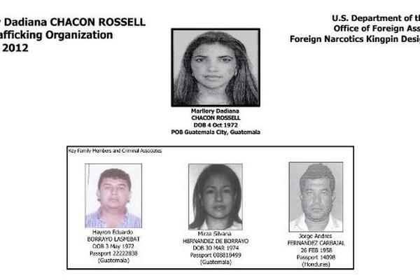 <p>Estados Unidos declaró en enero del 2012, como narcotraficante a Marllory Dadiana Chacón Rossell. (Foto Prensa Libre: Archivo)<br></p>