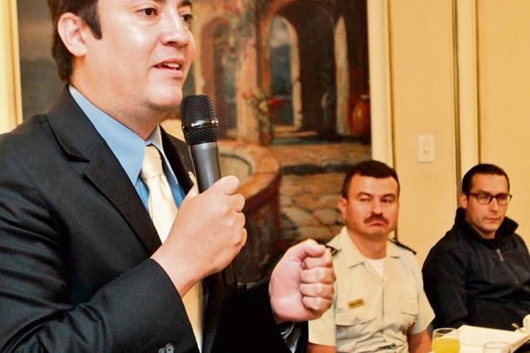 Darwin Ramírez, viceministro de Salud Agropecuaria y Regulaciones del Maga, en la actividad de Camagro.(Foto Prensa Libre: Alvaro Interiano)
