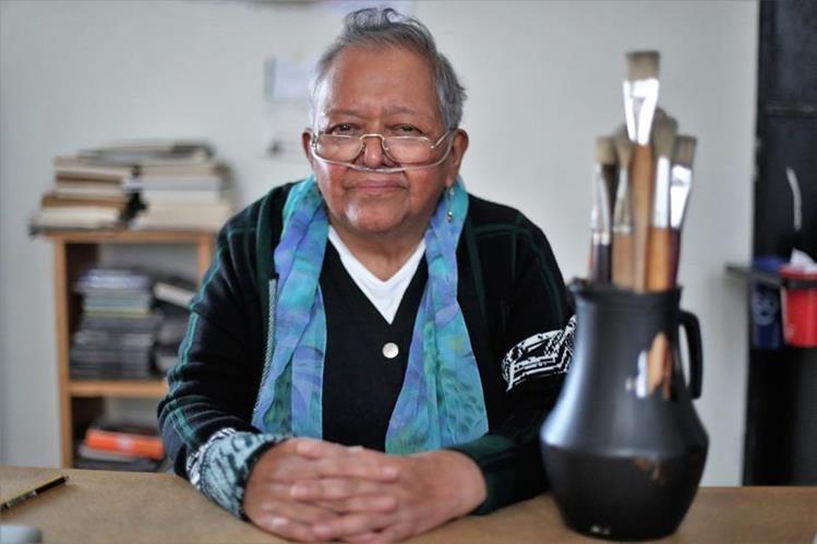 Isabel Ruiz tiene más de 30 años de carrera en las artes plásticas. (Foto Prensa Libre: Pablo Juárez Andrino)