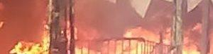 Farmacia incendiada.