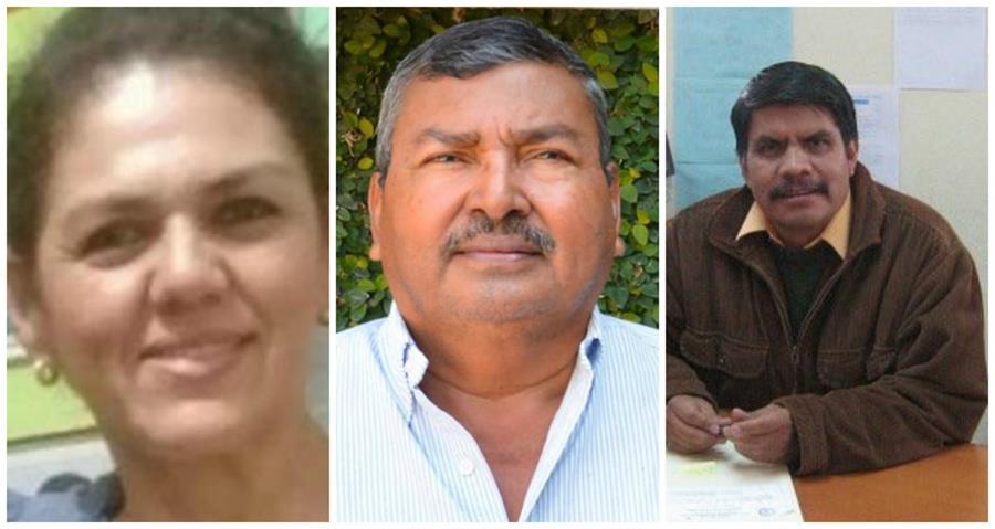 Gobernadores Adriana Girón Arango, Petén; César Fajardo Rodríguez, Izabal, y Juan Clímaco González, Quetzaltenango. (Foto: Hemeroteca PL)