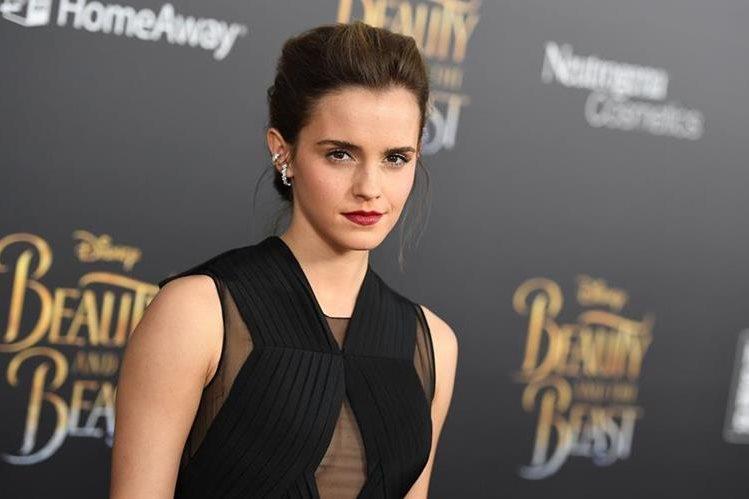 Emma Watson durante la presentación especial de La Bella y la Bestia en Nueva York el pasado lunes. La actriz ha sido víctima hackers. (Foto Prensa Libre: AFP / ANGELA WEISS).