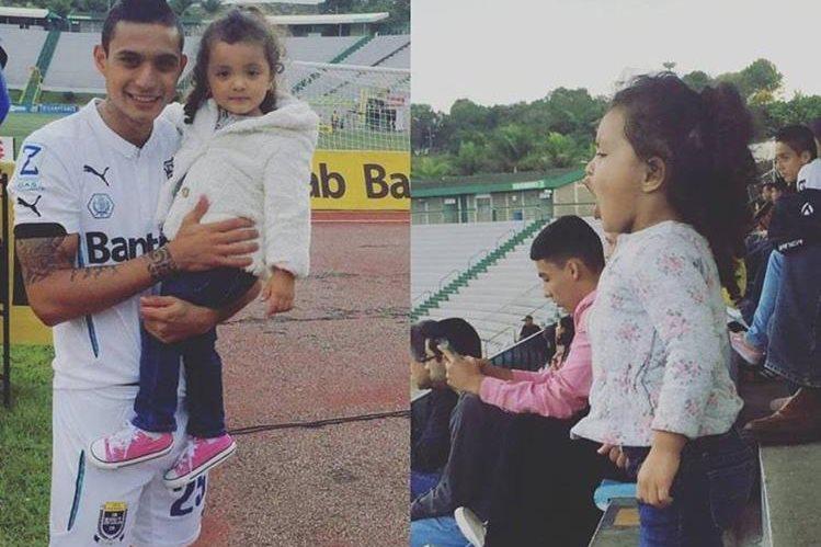 Jorge Aparicio y su hija, Camila, después del triunfo ante la Usac. (Foto Prensa Libre: Facebook Jorge Aparicio)