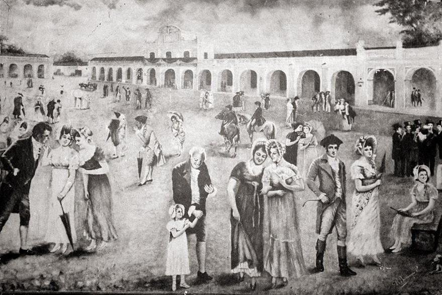 Ilustración de la Plaza Mayor de Guatemala en la época independentista. (Foto: Hemeroteca PL)