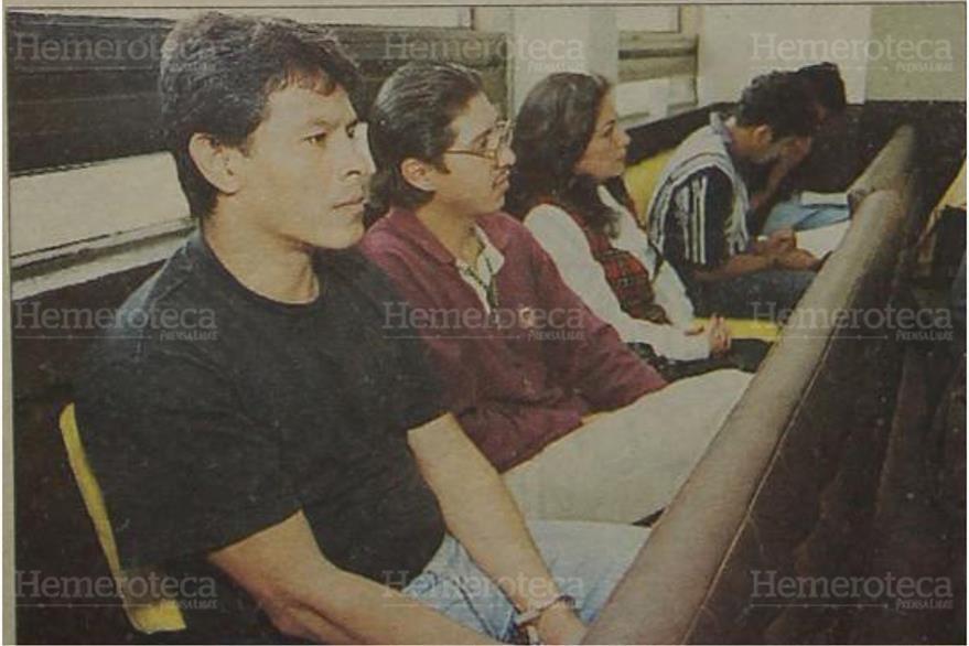02/7/1999 El tribunal condena a secuestradores de la banda Los Gays por secuestro de una niña de dos años. (Foto: Hemeroteca PL)