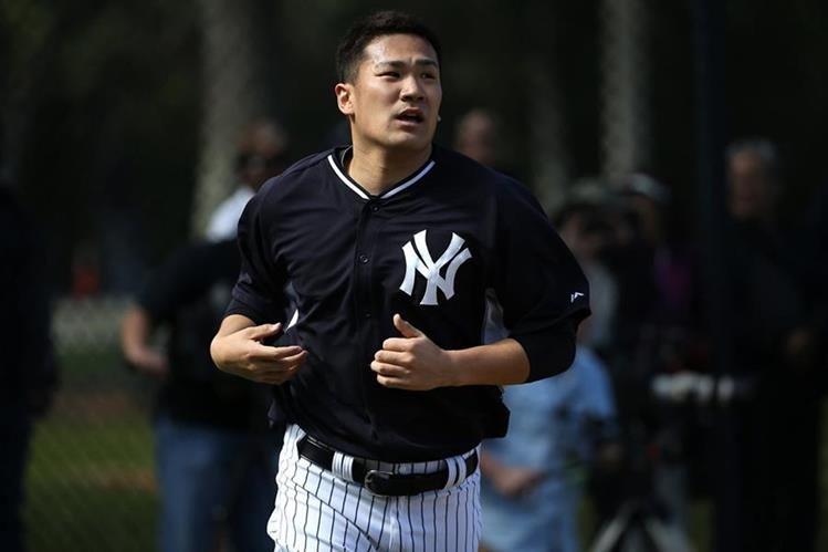 Mashiro Tanaka es una de las incorporaciones del año pasado del equipo Yanqui para esta nueva temporada. (Foto Prensa Libre: AP)
