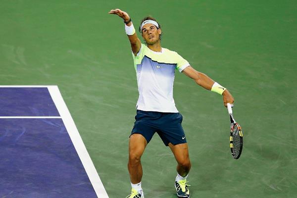 Rafael Nadal actualmente participa en el Torneo Abierto de Tenis Indian Wells. (Foto Prensa Libre: AFP)