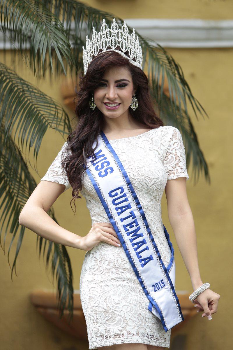 Miss Guatemala arribó el lunes a Las Vegas, en Estados Unidos, para participar en el certamen internacional. (Foto Prensa Libre: Érick Ávila)