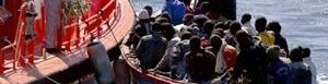 Inmigrantes desembarcan.