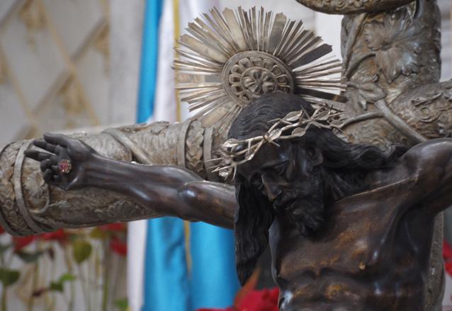 Cristo de Esquipulas del Santuario de Guadalupe, tallado en 1974. (Foto: Néstor Galicia)