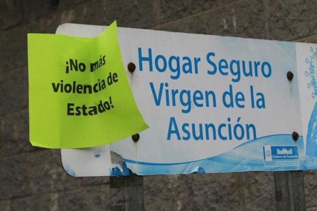El incendio en el Hogar Seguro Virgen de la Asunción dejó 40 menores muertas. (Foto Prensa Libre: Hemeroteca PL)