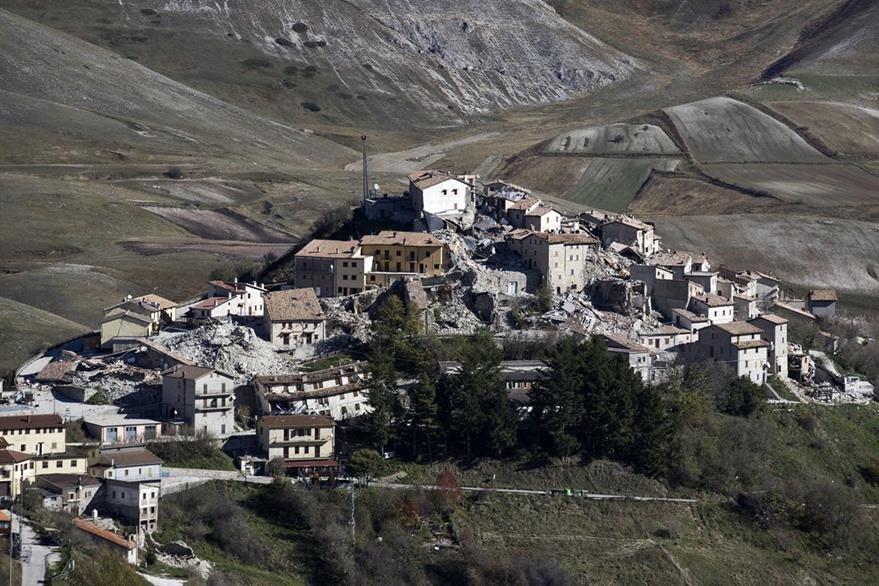 La villa de Castelluccio una de las áreas más afectadas. (Foto Prensa Libre: AFP).