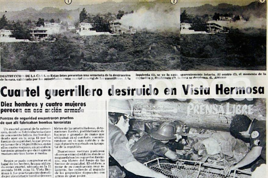 Nota informativa sobre el enfrentamiento entre guerrilla y el Ejército en la zona 15. (Foto. Hemeroteca PL)