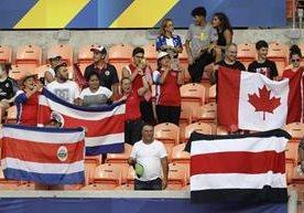 Ticos y canadienses chocaron en Houston, Texas.