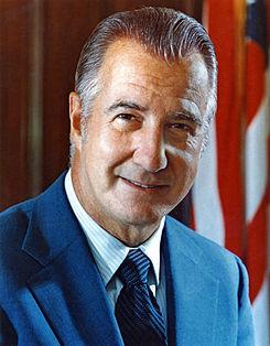 Spiro Agnew, el videpresidente de Nixon, no llegó a sucederlo en el cargo. (Foto: Internet)