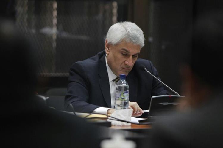 Enrique Castellanos Rojas declara ante el Juzgado B de Mayor Riesgo. (Foto Prensa Libre: Paulo Raquec)