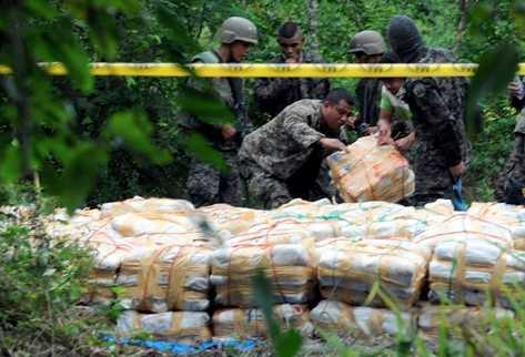 El 90 por ciento de la droga rumbo a Estados Unidos atraviesa Centroamérica y México. (Foto Prensa Libre: Archivo)