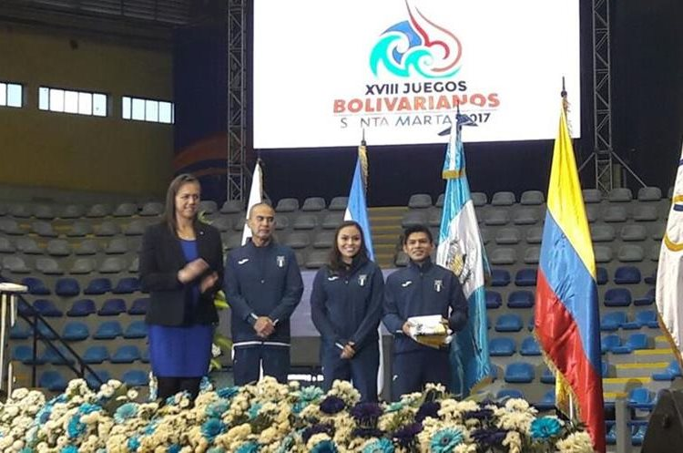 Jorge Vega será el abanderado en los Juegos Bolivarianos de Santa Marta, Colombia. (Foto Prensa Libre: Carlos Vicente)