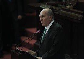 El diputado Mario Taracena, de la UNE, busca su reelección como presidente del Congreso. (Foto Prensa Libre: Hemeroteca PL)
