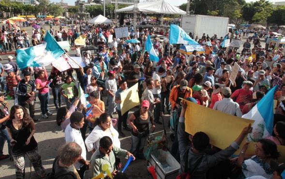 El 2015 se caracterizó por las múltiples protestas ciudadanas en contra de la corrupción e impunidad. (Foto Prensa Libre: Hemeroteca PL)