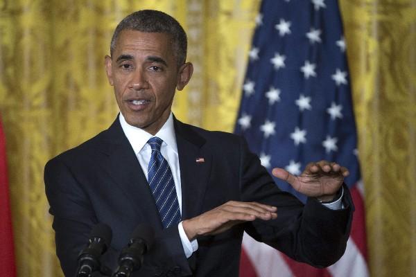 Barack Obama, presidente estadounidense ofrece una rueda de prensa. (EFE).