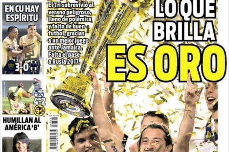 Así salió este lunes el diario Récord en su portada. (Foto Prensa Libre: Agencias)