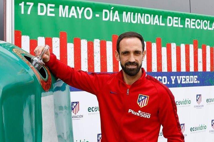 Juanfran Torres aseguró que la derrota contra el Levante los hará más fuertes para la final de la Liga de Campeones. (Foto Prensa Libre: Atlético de Madrid)
