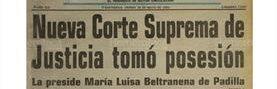 Portada de Prensa Libre del 28 de mayo de 1993 informa sobre la primera mujer en ocupar presidencia de la CSJ tras el Serranazo.(Foto: Hemeroteca PL)
