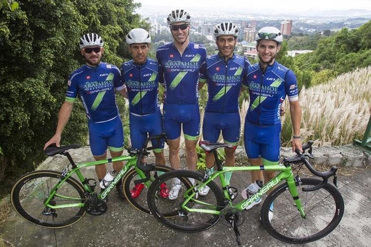 El equipo estadounidense Team Arapahoe Resources competirá en la Vuelta a Guatemala. (Foto Prensa Libre: Edwin Fajardo).