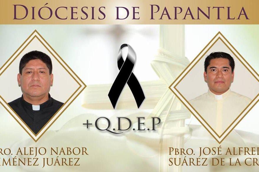 Fotografías de los sacerdotes mexicanos asesinados esta semana en México. (Foto Prensa Libre: AP).
