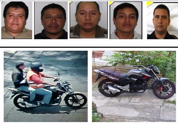 Cinco presuntos sicarios fueron detenidos implicados en la muerte del abogado Francisco Palomo. (Foto Prensa Libre: PNC Guatemala)