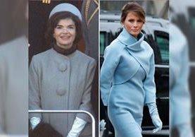 La ex primera dama Jackie Kennedy inspiró a Melania Trump en su imagen este viernes, en el acto donde su esposo Donald Trump asumió el cargo de Presidente de Estados Unidos. (Foto Prensa Libre: Hemeroteca PL)