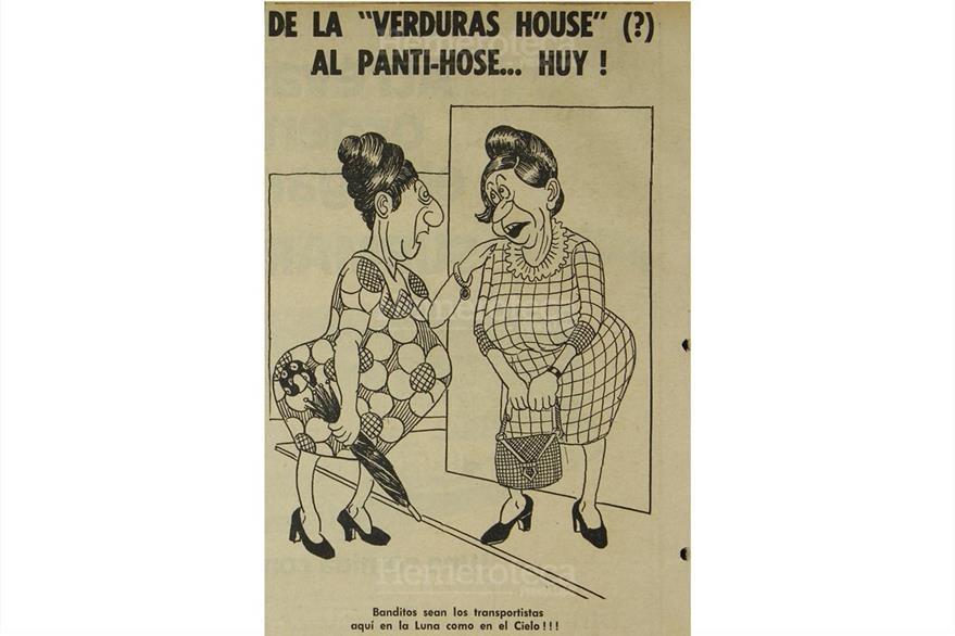 Doña Milagros y doña Teco, dos personajes que hablan con ironía de lo difícil que estaba la vida en 1976. (Foto: Hemeroteca PL)
