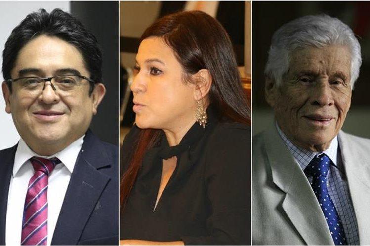 Augusto Jordán Rodas, Claudia López y Ricardo Alvarado conforman la terna de aspirantes a PDH. (Foto Prensa Libre: Archivo)